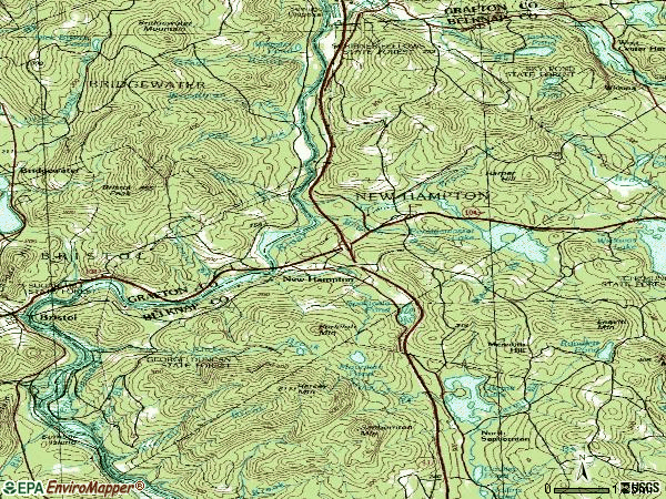 Zip code 03256 topographic map