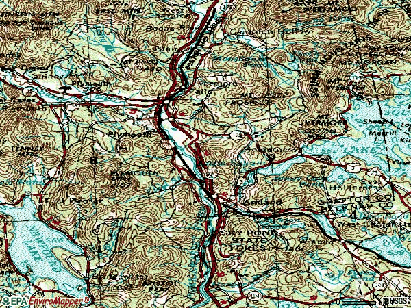 Zip code 03264 topographic map