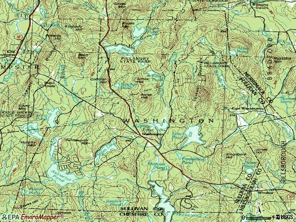 Zip code 03280 topographic map