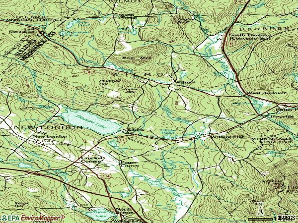 Zip code 03287 topographic map