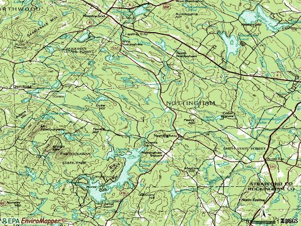 Zip code 03290 topographic map