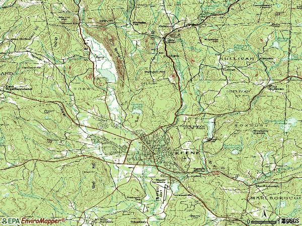 Zip code 03431 topographic map