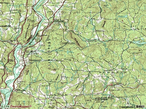 Zip code 03603 topographic map