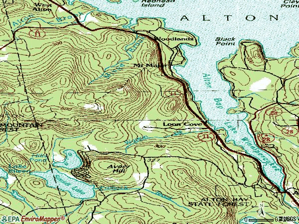 Zip code 03810 topographic map
