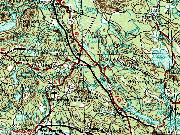 Zip code 03864 topographic map