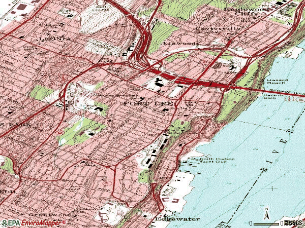 Zip code 07024 topographic map