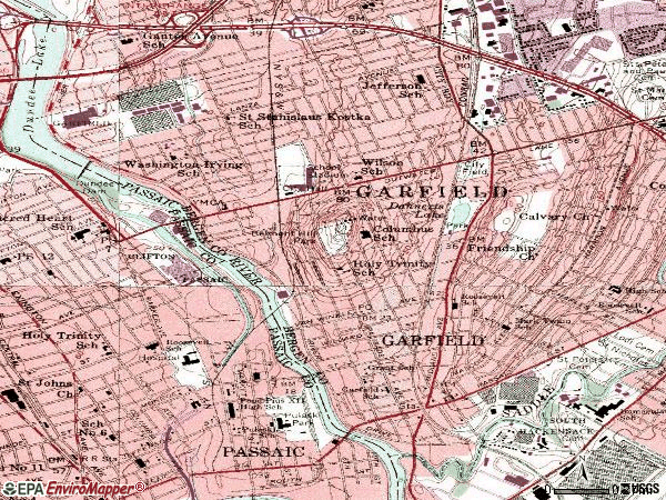 Zip code 07026 topographic map