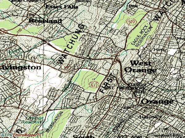 Zip code 07052 topographic map