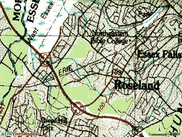 Zip code 07068 topographic map