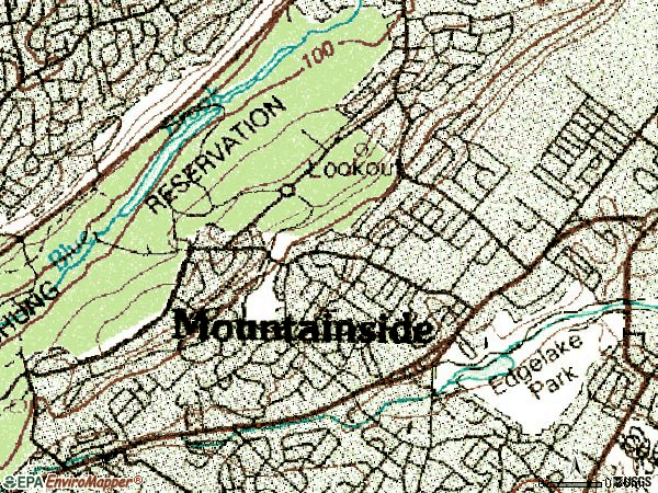 Zip code 07092 topographic map