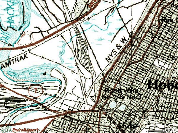Zip code 07307 topographic map