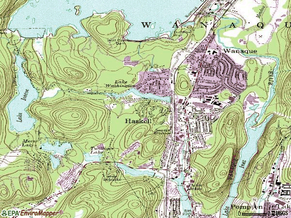 Zip code 07420 topographic map