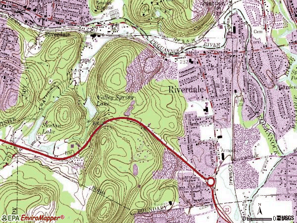 Zip code 07457 topographic map