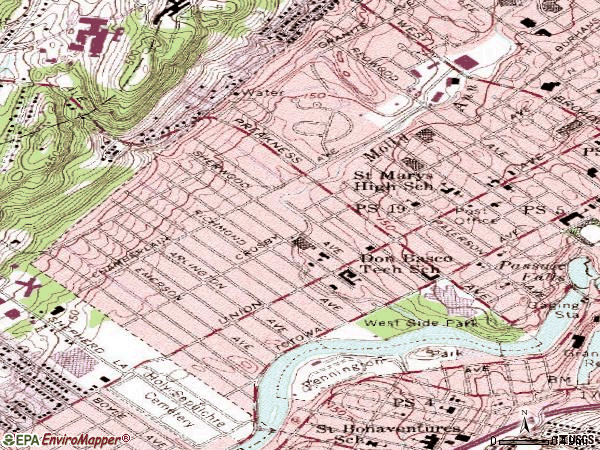 Zip code 07502 topographic map