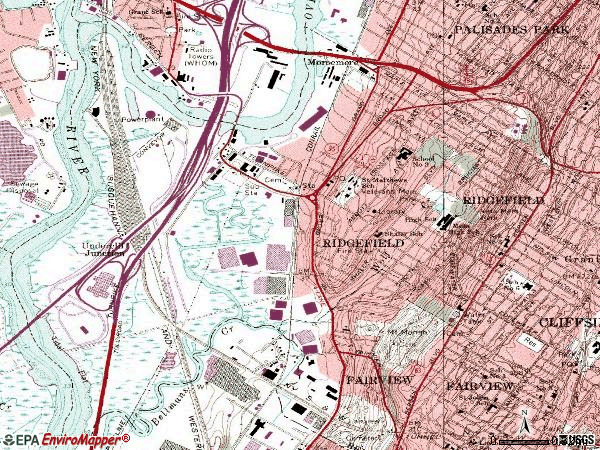 Zip code 07656 topographic map