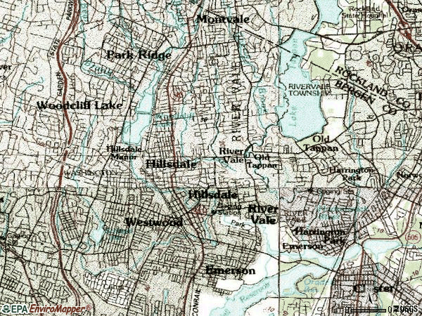 Zip code 07675 topographic map