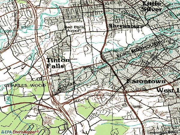 Zip code 07724 topographic map