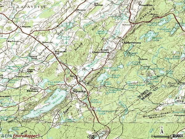 Zip code 07871 topographic map