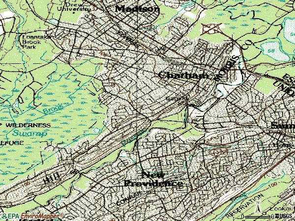 Zip code 07928 topographic map