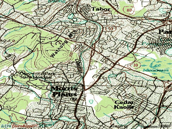 Zip code 07950 topographic map