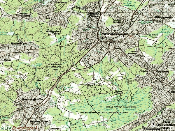 Zip code 07960 topographic map