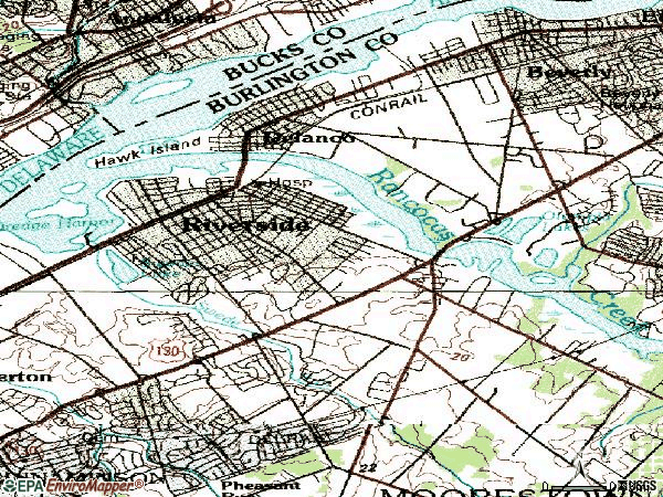 Zip code 08075 topographic map