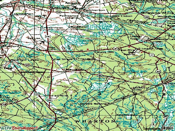 Zip code 08088 topographic map