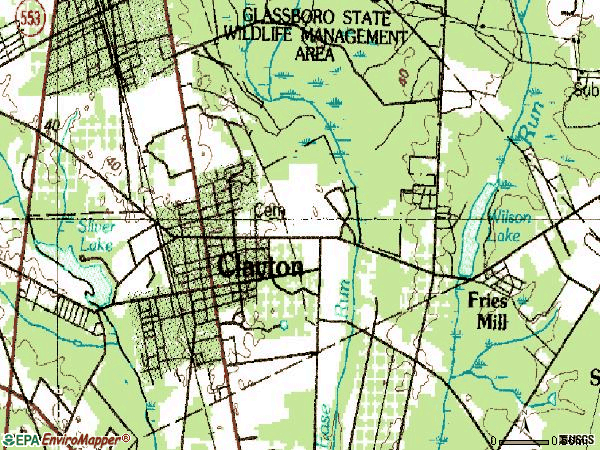 Zip code 08312 topographic map