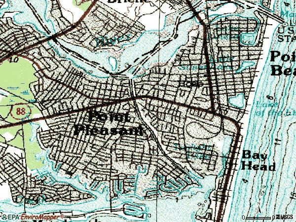 Zip code 08742 topographic map