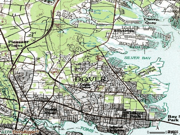 Zip code 08753 topographic map