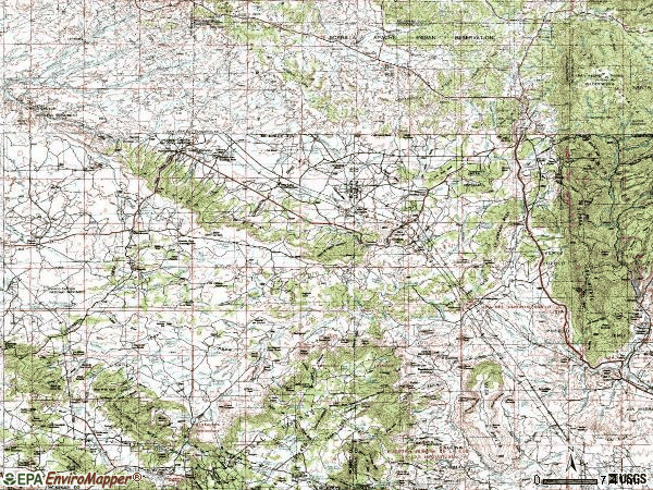 Zip code 87013 topographic map