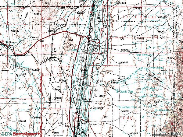 Zip code 87031 topographic map