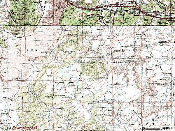 Zip code 87034 topographic map