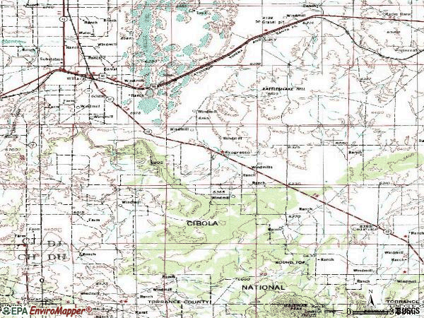 Zip code 87063 topographic map