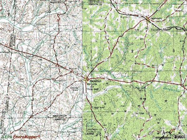 Zip code 35570 topographic map