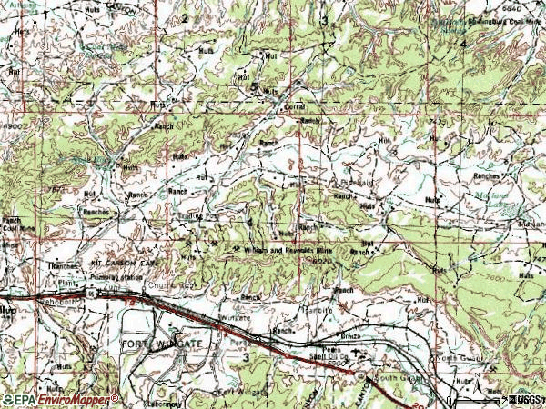 Zip code 87311 topographic map