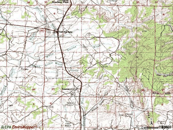 Zip code 87317 topographic map