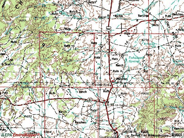 Zip code 87375 topographic map