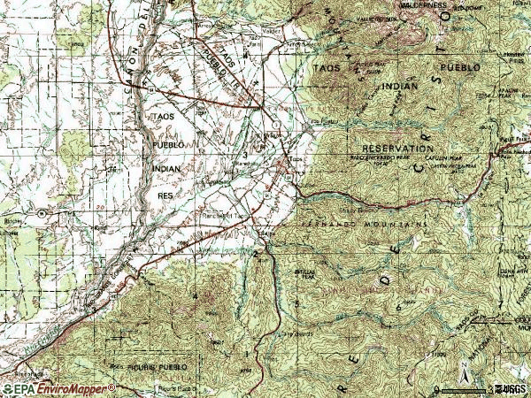 Zip code 87557 topographic map