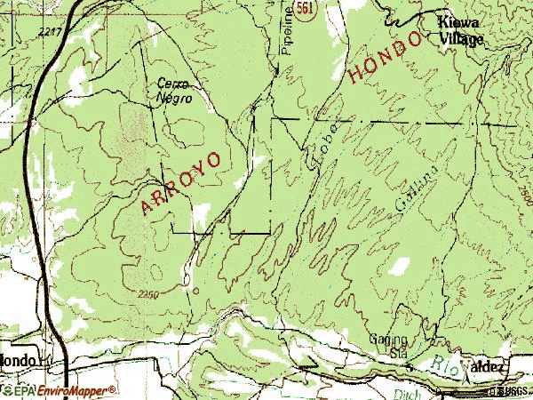 Zip code 87580 topographic map