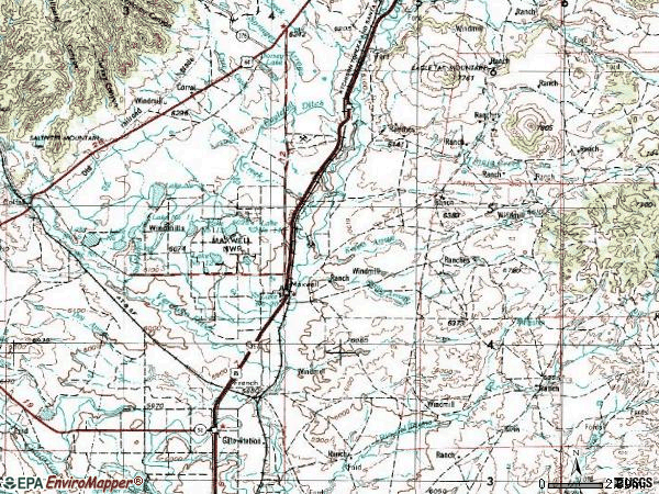 Zip code 87728 topographic map
