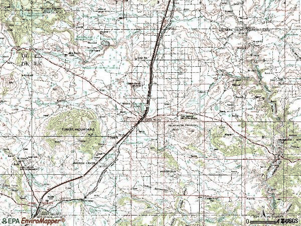 Zip code 87752 topographic map
