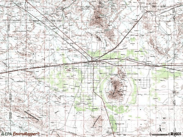 Zip code 88030 topographic map