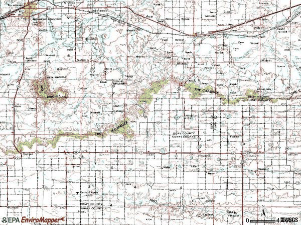 Zip code 88120 topographic map