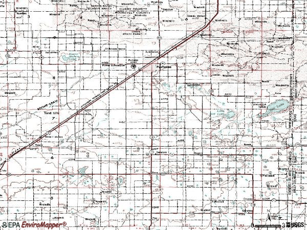 Zip code 88130 topographic map