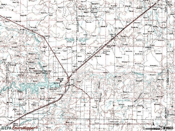 Zip code 88426 topographic map