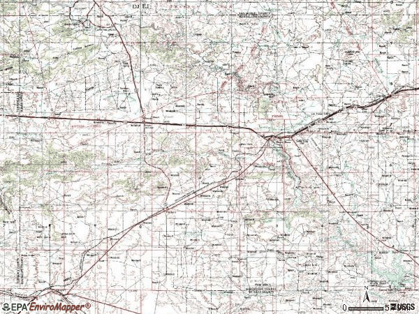 Zip code 88435 topographic map