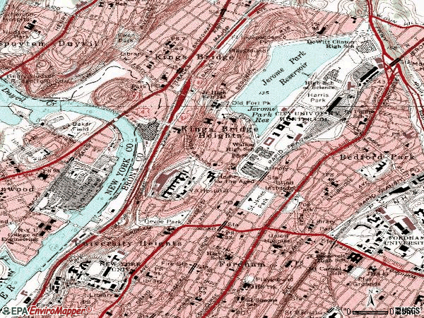 Zip code 10468 topographic map