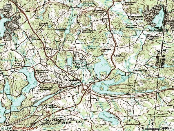 Zip code 10509 topographic map