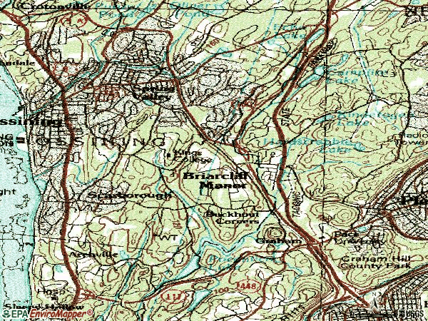 Zip code 10510 topographic map
